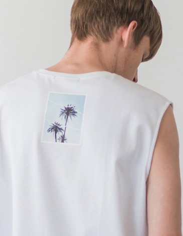 OCEAN TREE LAYERED SLEEVELESS [WHITE]