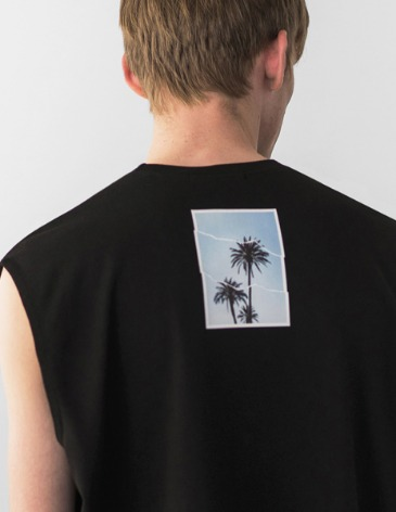 OCEAN TREE LAYERED SLEEVELESS [BLACK]