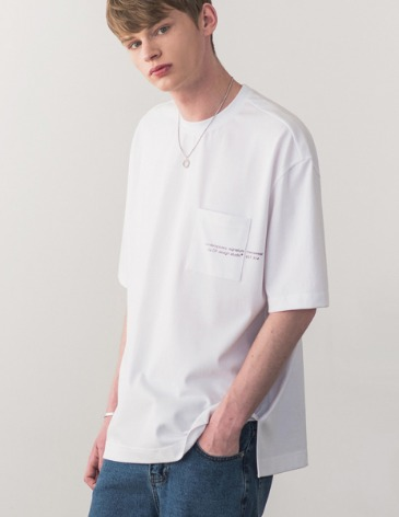 SIGNATURE POCKET T-SHIRT [WHITE]
