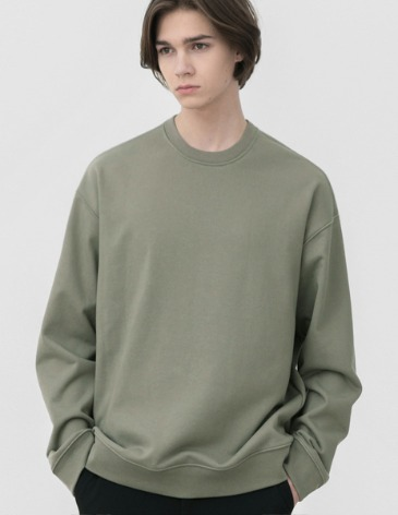 MINIMAL BLEND SWEAT-SHIRT [DUSTY GREEN]