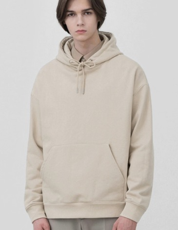 MINIMAL BLEND HOODIE T-SHIRT [DUSTY CREAM]