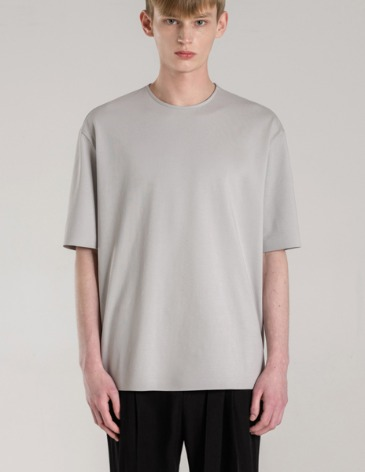 SILKET PIMA COTTON BONDED T-SHIRT [GREY]