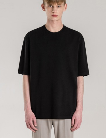 SILKET PIMA COTTON BONDED T-SHIRT [BLACK]