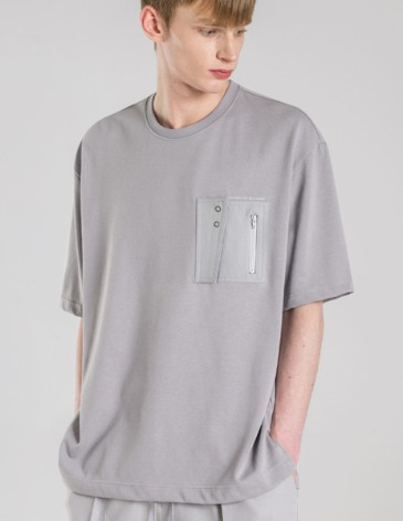 TECHNICAL POCKET PATCH T-SHIRTS [GREY]