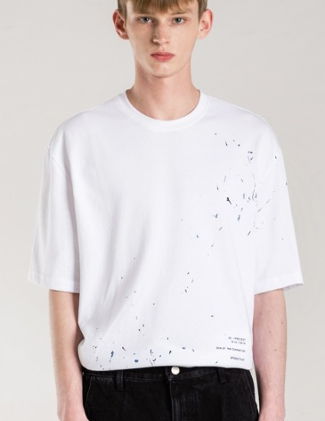 COMPOSITION HAND PAINTING T-SHIRTS [WHITE]