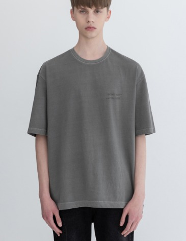 PIGMENT DYEING STRING T-SHIRTS [L.GREY]