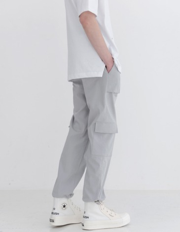 UTILITY CARGO STRING PANTS [GREY]
