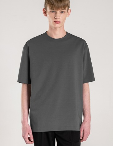 SILKET PIMA COTTON BONDED T-SHIRT [D.GREY]