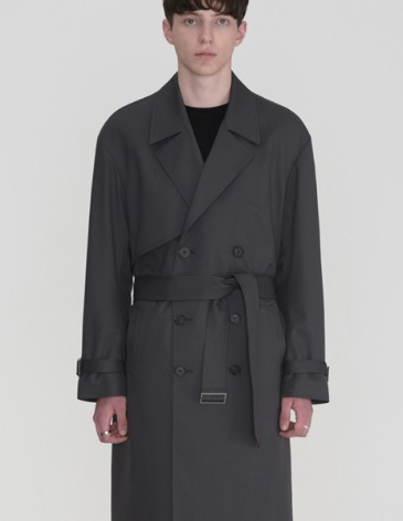 OVERSIZED TRENCH COAT [CHARCOAL]
