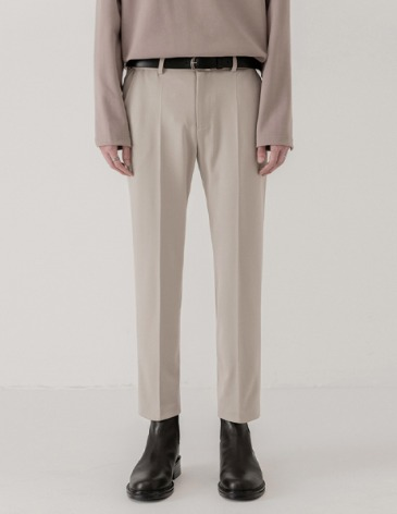 MODERNITY HIDDEN BANDING SLACKS [DUSTY CREAM]