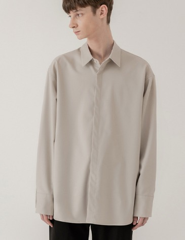 OVERSIZED HIDDEN MINIMAL SHIRT [CREAM]