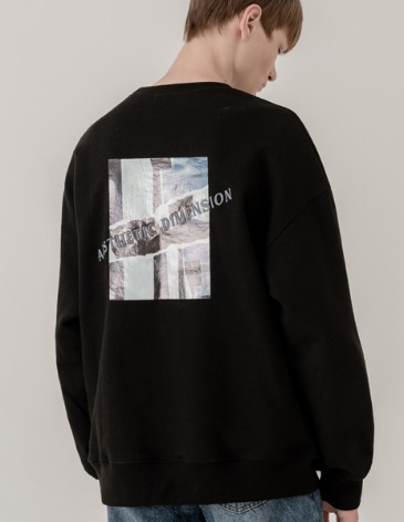 DIMENSION LAYER SWEAT-SHIRT [BLACK]