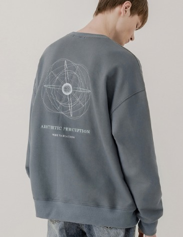 PLANET EMBO SWEAT-SHIRT [BLUE GREY]