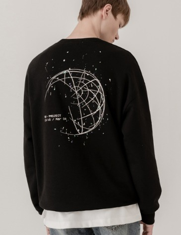 SPLATTER PAINTING SWEAT-SHIRT [BLACK]
