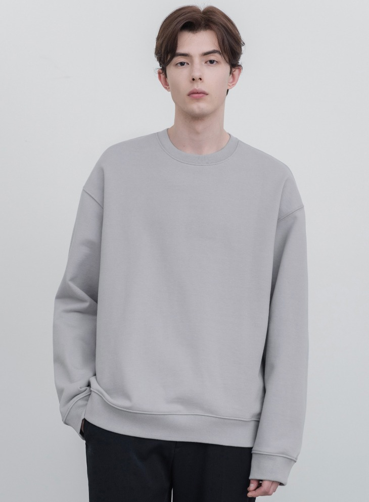 MINIMAL BLEND SWEAT-SHIRT [STONE GREY]