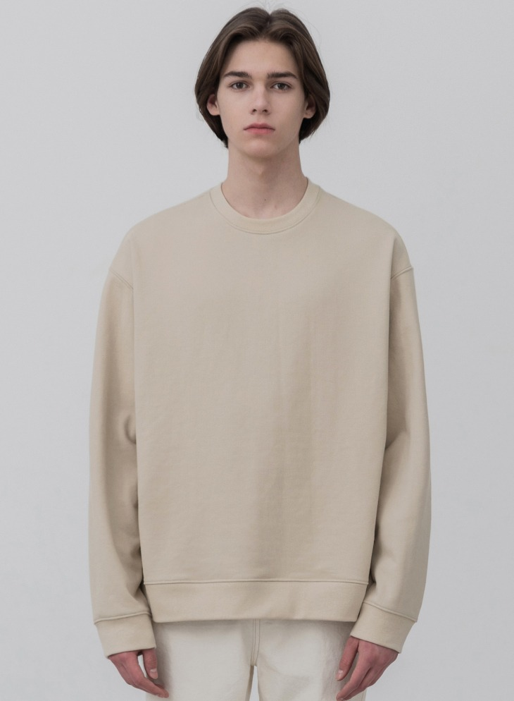 MINIMAL BLEND SWEAT-SHIRT [DUSTY CREAM]